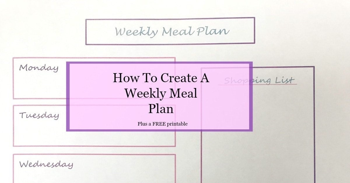 How To Create A Weekly Meal Plan The Budget Girl – Meal Plan Worksheet