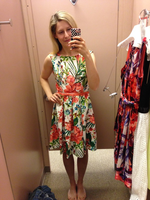 Dressing Room Review  The New DressBar at Dress Barn   The Budget     Tropical print dress