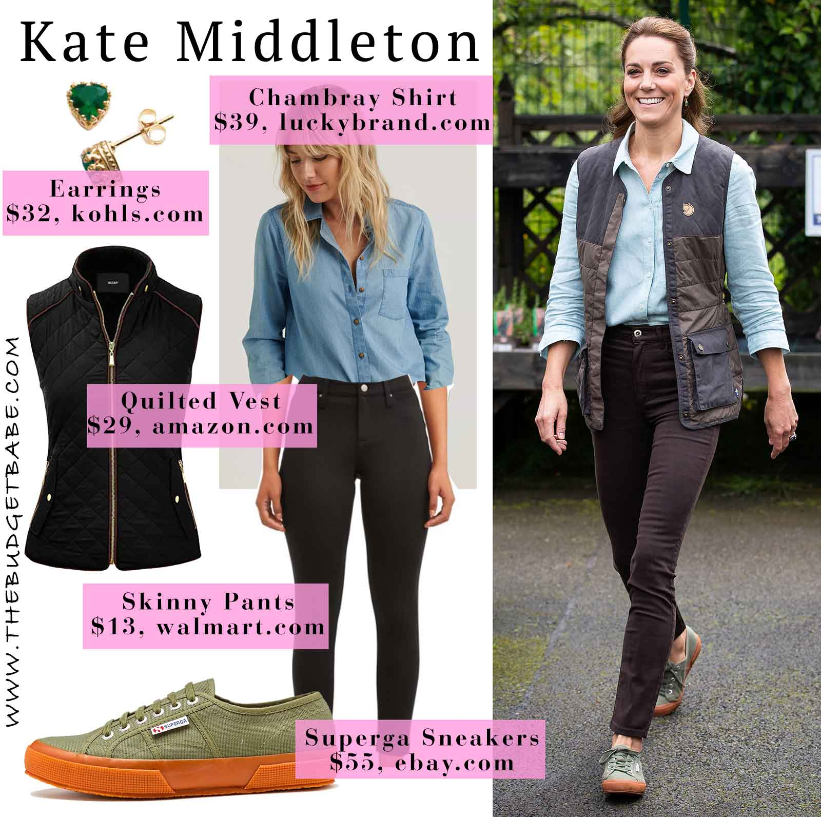 Photo of Get the Look: Kate Middleton's Chambray Shirt and Superga Sneakers