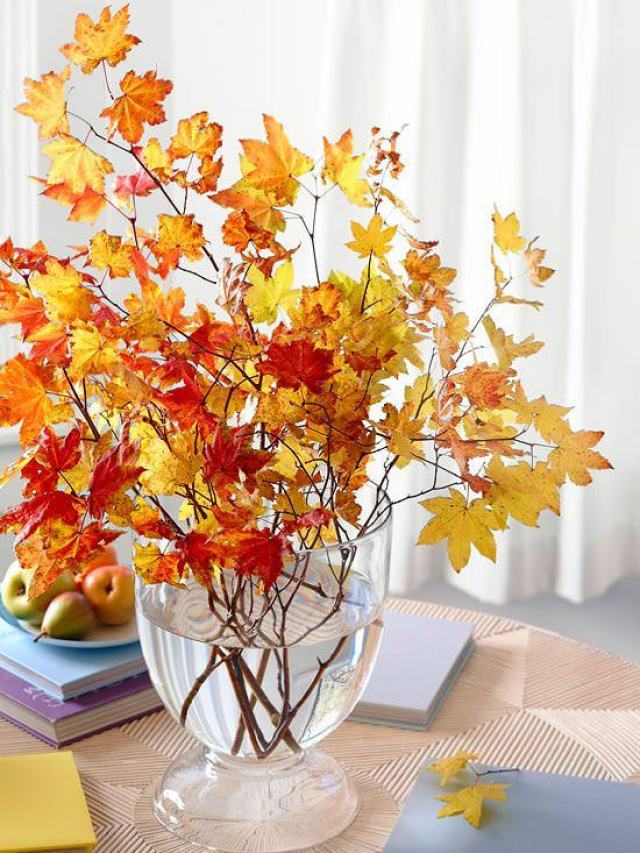 Fall branches decor
