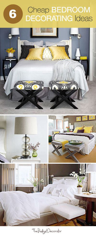 6 Cheap Bedroom Decorating Ideas • The Budget Decorator on Cheap Bedroom Ideas  id=97799