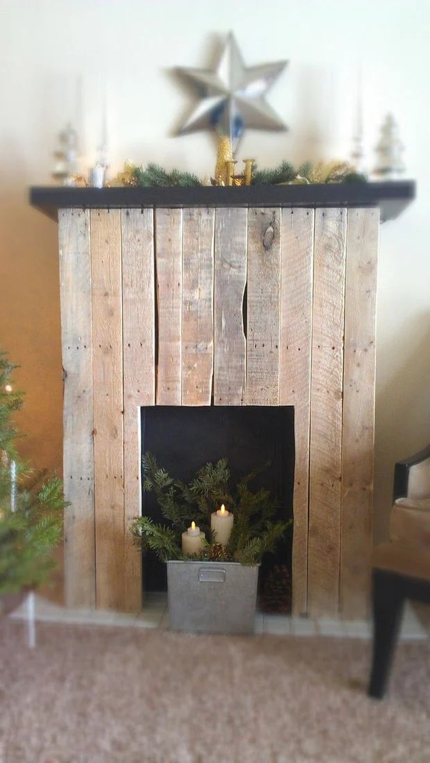 Usually a bedroom is made for two people. DIY Faux Fireplace • The Budget Decorator