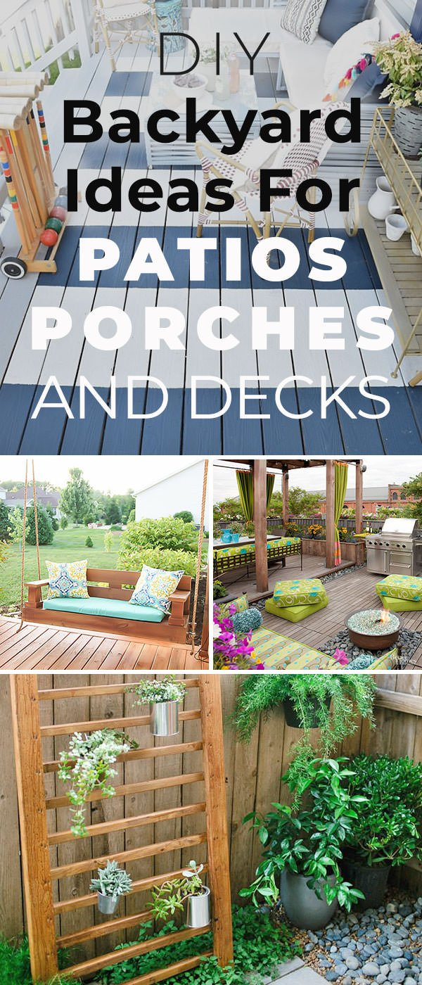 12 DIY Backyard Ideas for Patios, Porches and Decks • The ... on Add On Patio Ideas  id=76004