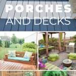 12 Diy Backyard Ideas For Patios Porches And Decks The Budget Decorator