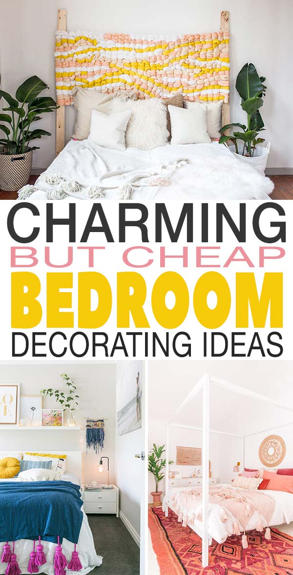 Charming But Cheap Bedroom Decorating Ideas • The Budget ... on Bedroom Ideas Cheap  id=69374