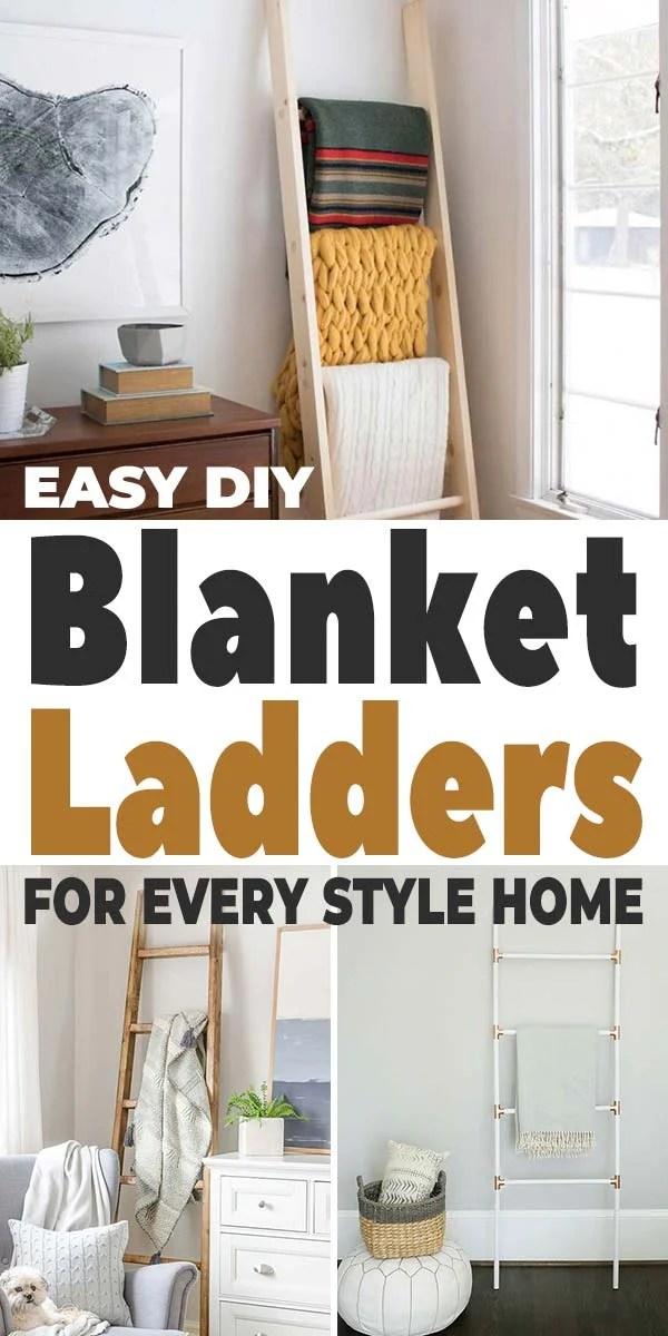 easy diy blanket ladders for every