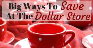 Big Ways To Save At The Dollar Store Facebook