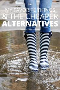 We all have our favorite things. The problem is, they may not be the most affordable. Here are some affordable alternatives to some of my go-to favorites.
