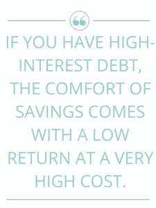 Can't decide if you should pay off debt or save first? It really comes down to two important things - what kind of debt you have and your money mindset. Click to read about how to handle debt and saving at the same time.