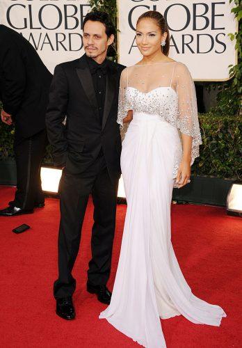 Marc Anthony and Jennifer Lopez at the Golden Globe Awards on Jan. 16, 2011
