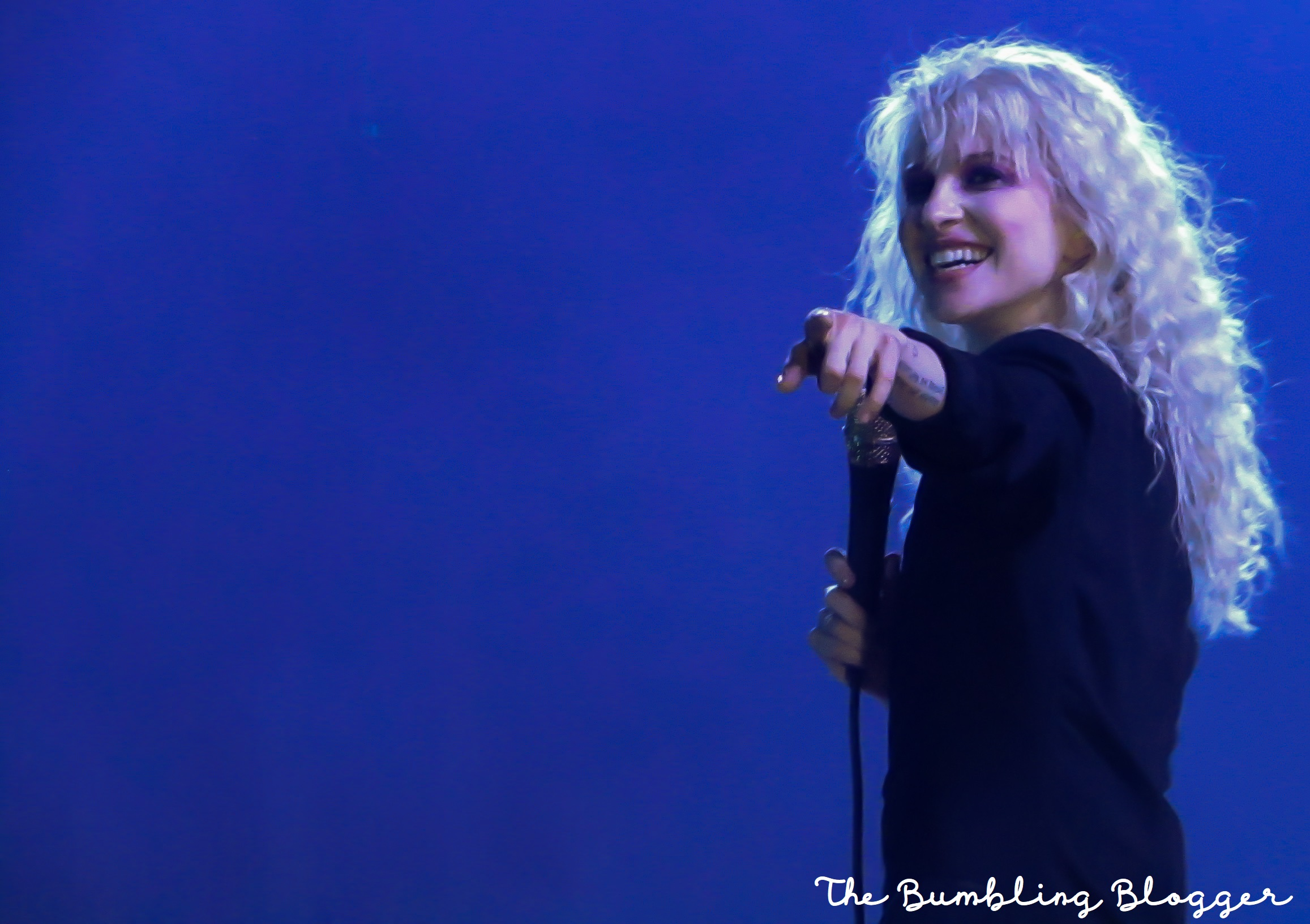 Hayley Williams of Paramore performing at The O2 Arena