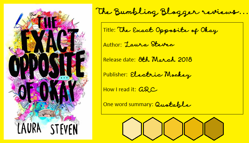 Review: The Exact Opposite of Okay by Laura Steven