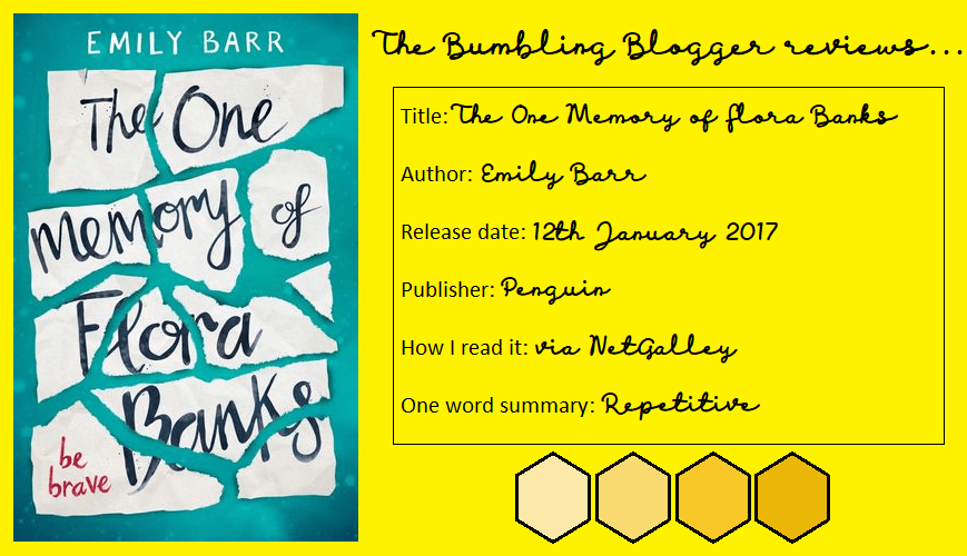 Review: The One Memory of Flora Banks by Emily Barr