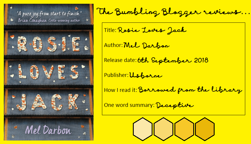 Blogtober Day 17: Review: Rosie Loves Jack by Mel Darbon