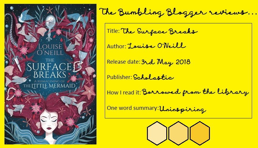 Blogtober Day 13: Review: The Surface Breaks by Louise O'Neill