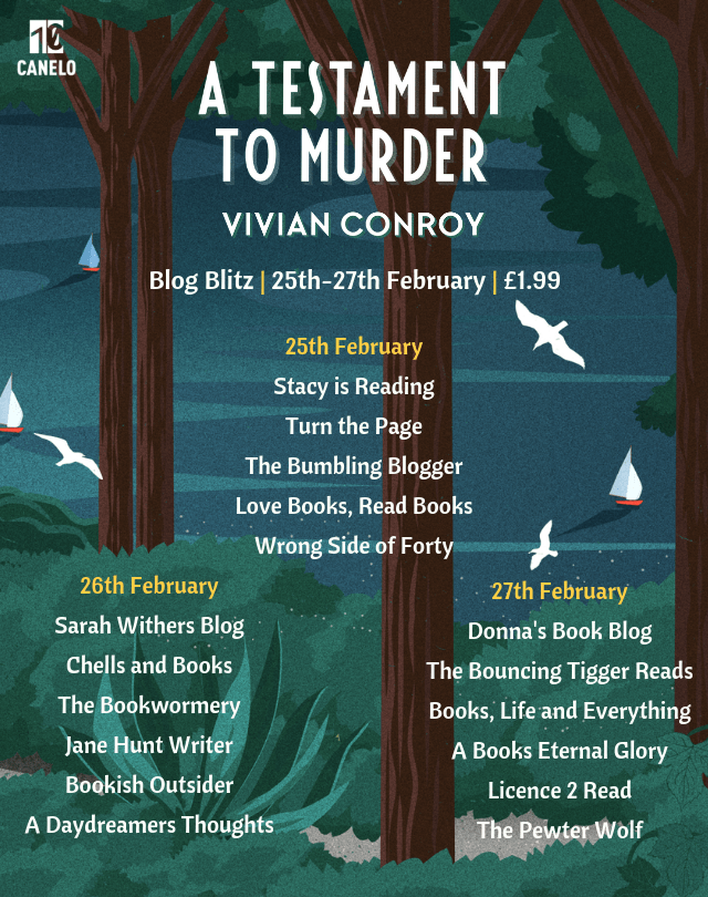 Blog blitz: A Testament to Murder by Vivian Conroy