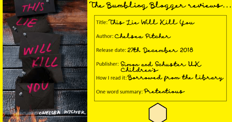 Review: This Lie Will Kill You by Chelsea Pitcher