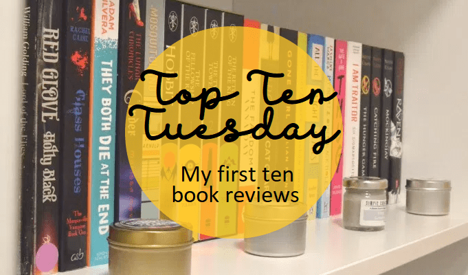 Top Ten Tuesday: First ten books I reviewed