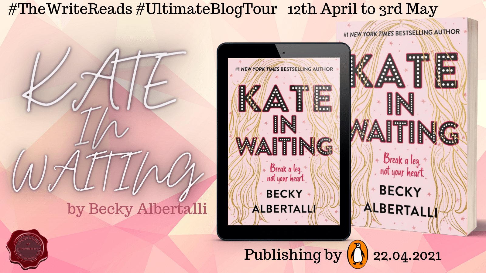 BLOG TOUR: Kate In Waiting by Becky Albertalli