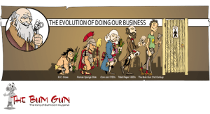 evolution of cleaning our ass