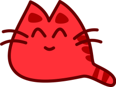 red cat graphic