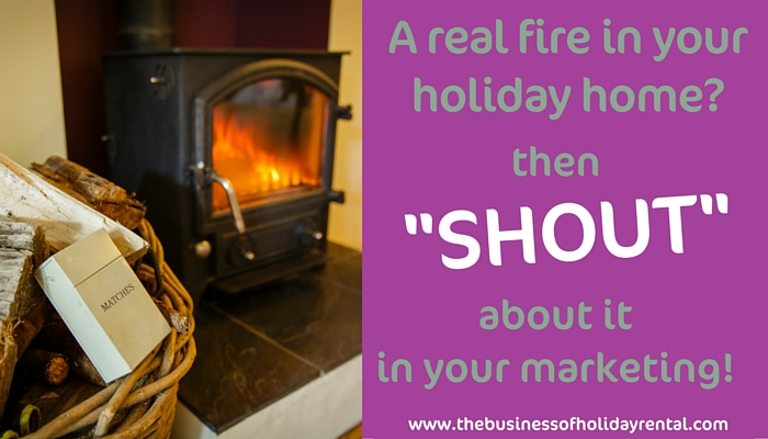 A real fire in your holiday home?