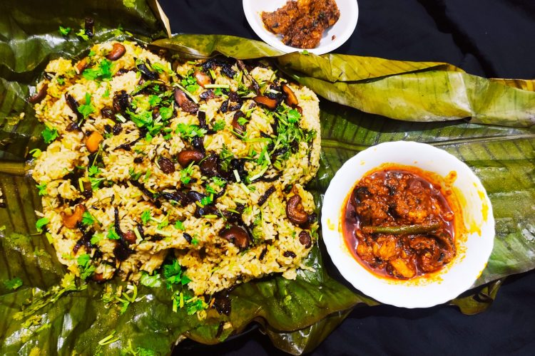 prawns pothi biryani