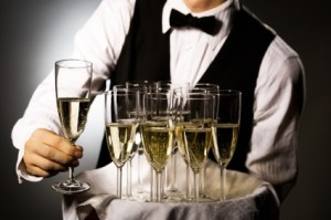 Waiter with glasses
