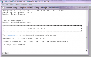 Analyzing a server 2008 R2 dwp crash dump file (3/4)