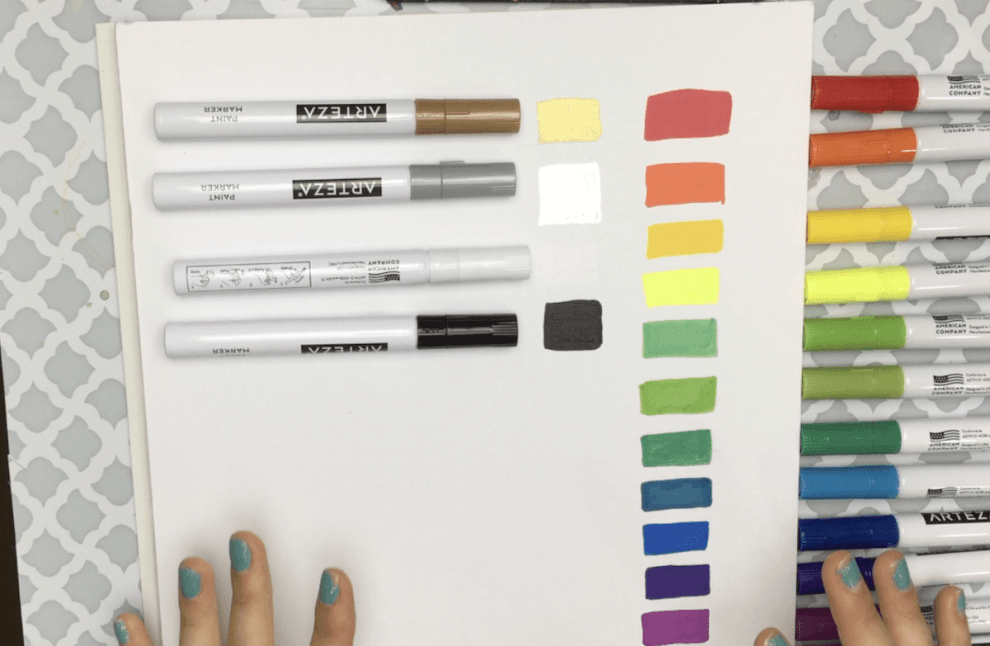 arteza paint marker honest review  swatch test