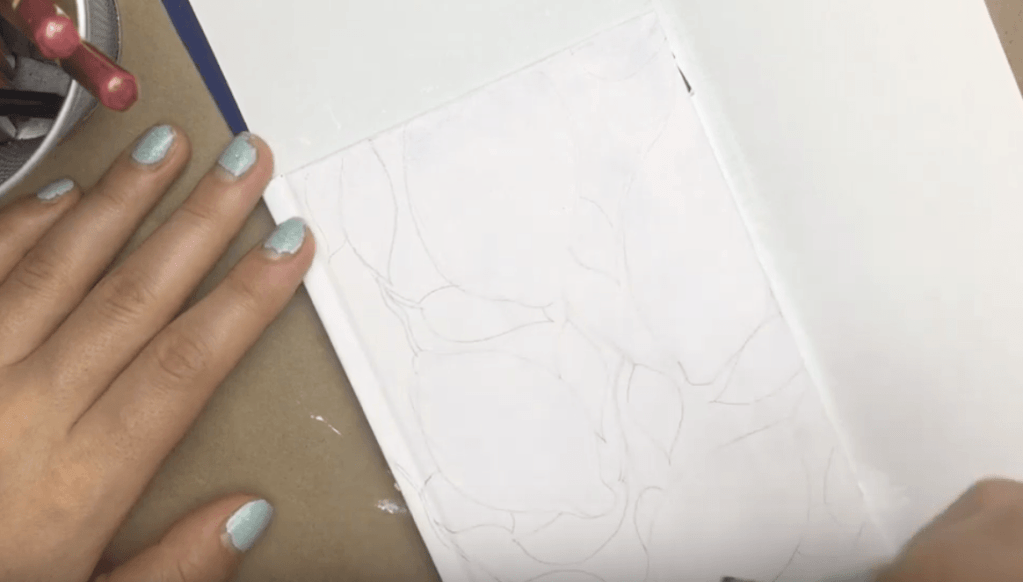 DIY note book cover painting upcycle drawing on the book cover