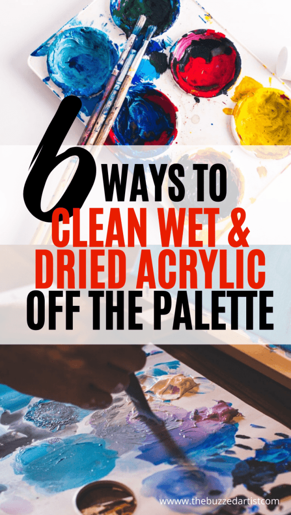 6 ways to clean dried and wet acrylic paint off palette