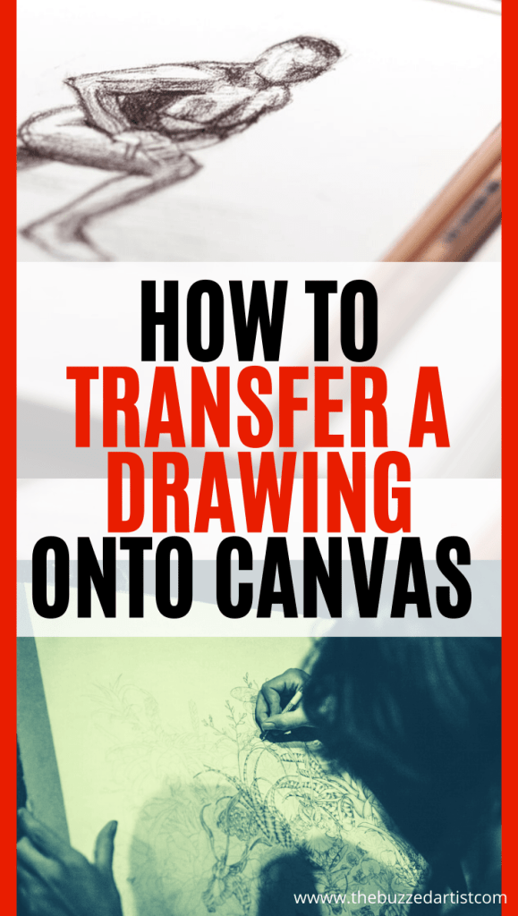 transfer a drawing to canvas