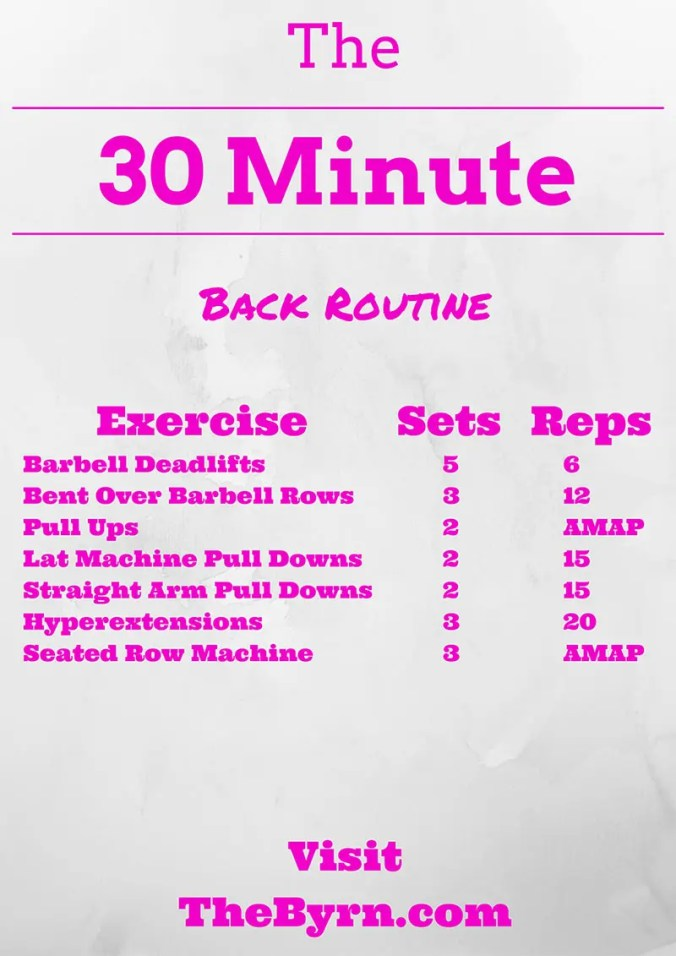 30 Minute Back Routine