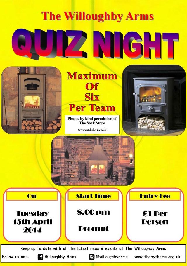 Pub quiz poster (15-04-2014)