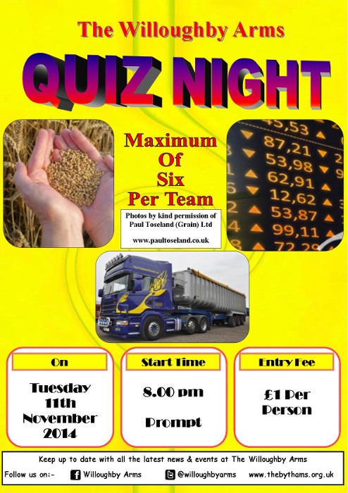 Pub quiz poster (11-11-2014)