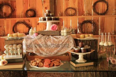 Dessert Buffet - set up in Barn
