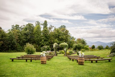 Benches at Ceremony Site