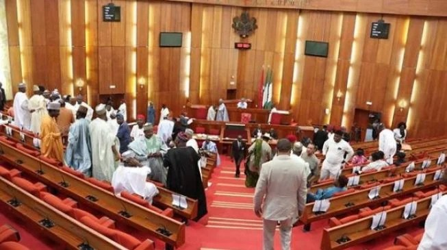 Image result for Rowdy session as senators accuse Buhari of lopsided appointments