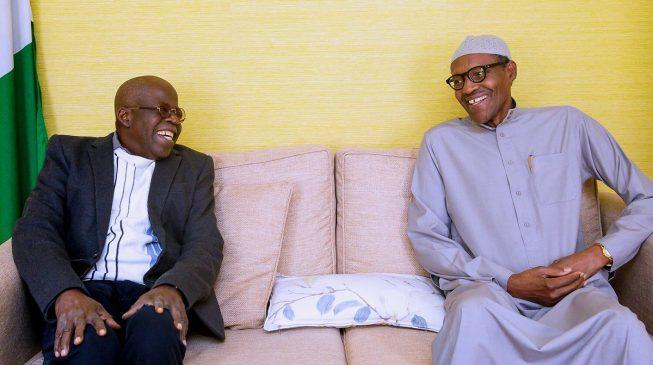 Image result for Tinubu visits Buhari in London