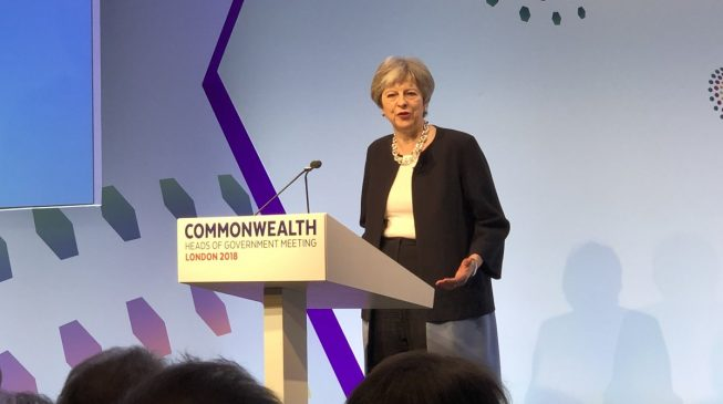 Image result for Theresa May calls for same-sex marriages in Nigeria, Commonwealth