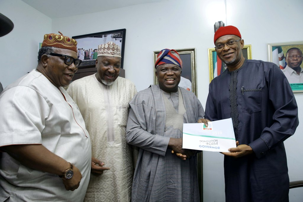 Image result for Ambode submits nomination form despite plot to stop him