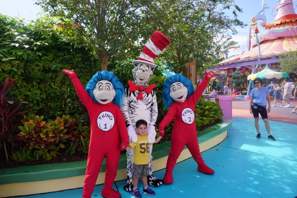 My son enjoyed taking a picture with Thing 1, Thing 2, and the Cat in the Hat after the performance!