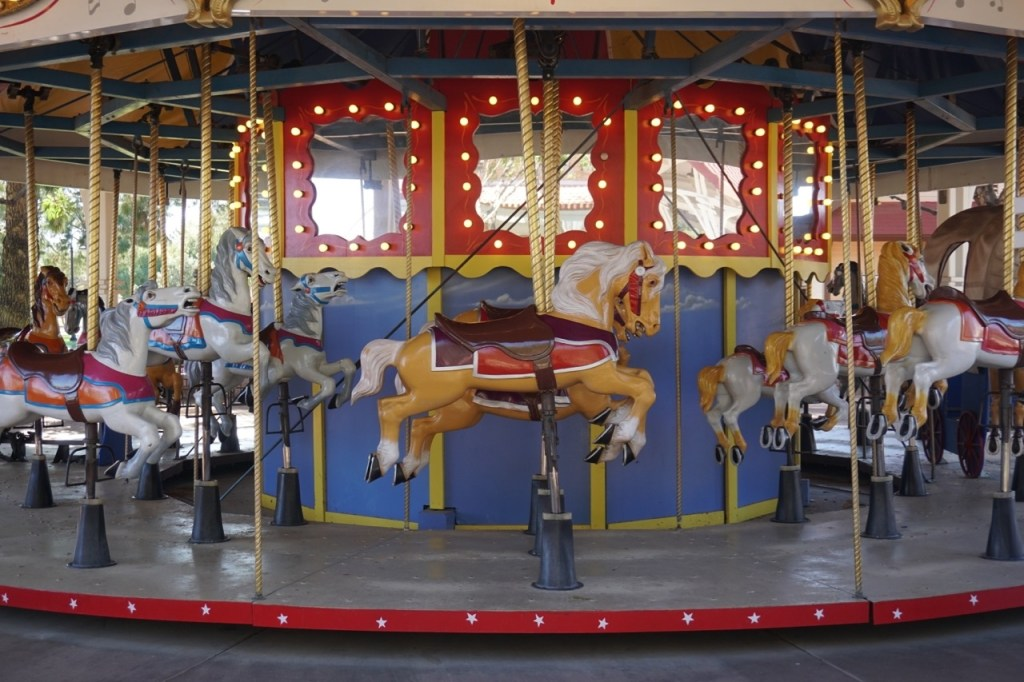 The Mccormick-Stillman Railroad Park is more than a train park. There's also a carousel on site.
