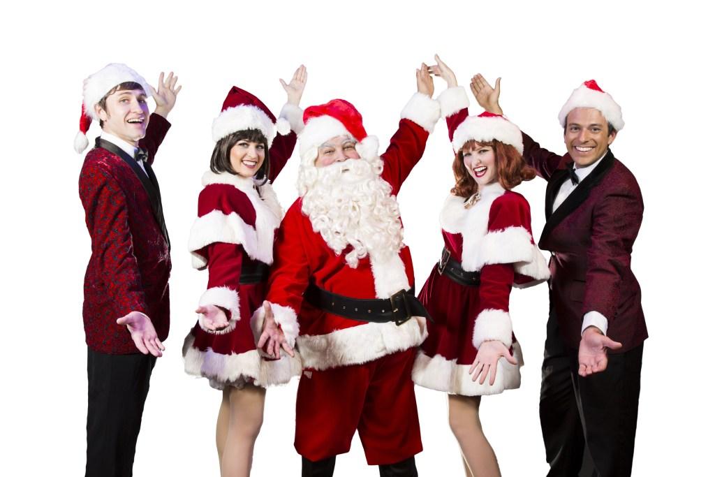 The cast of Rockin' Around the Christmas Tree! Photo provided by Gaslight Music Hall.