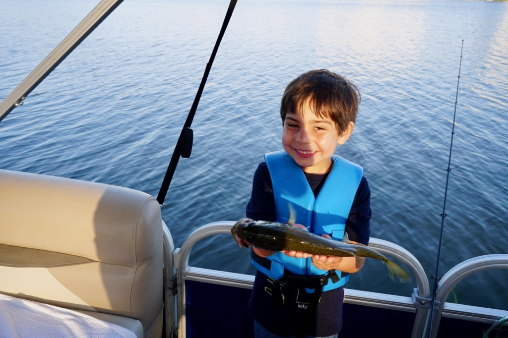 The first fish that my son has ever caught!