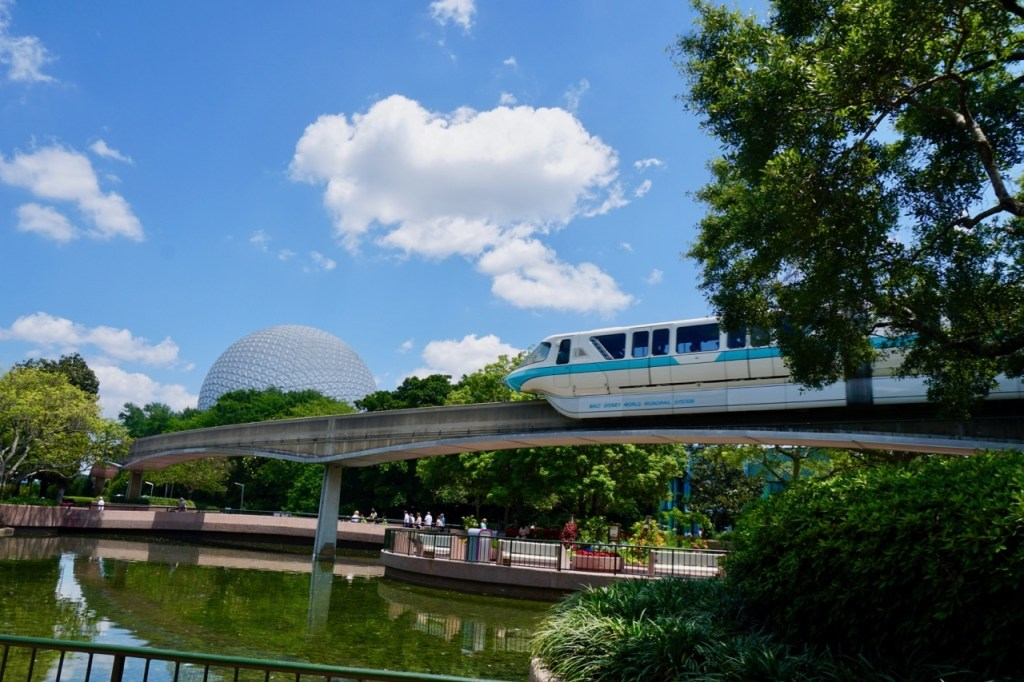 Disneyland vs. Disney World: The monorail is just one of the many modes of transportation at Disney World.