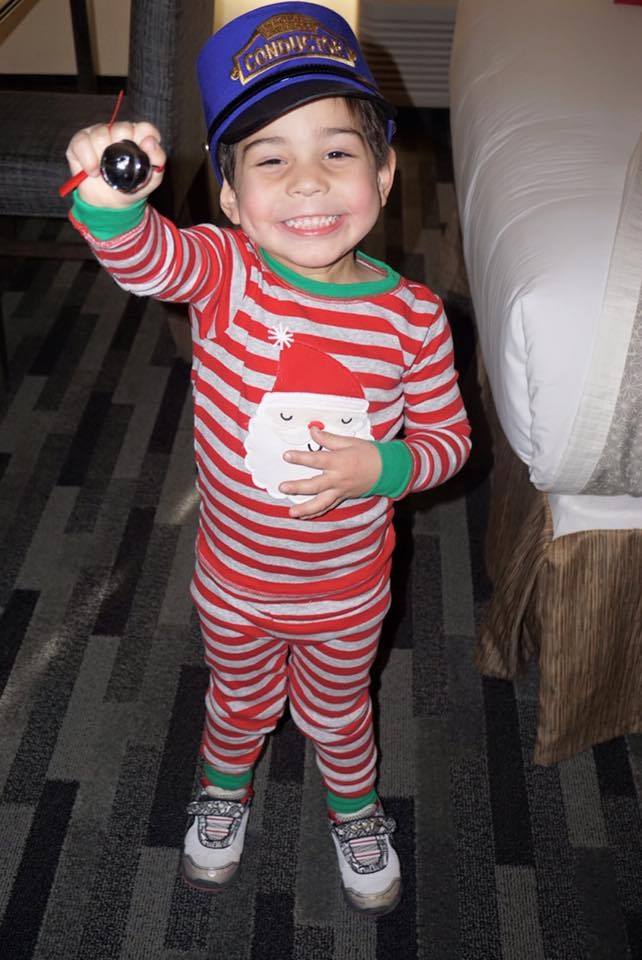 The second time we went on the Polar Express Train Ride, my son was even more excited with his silver bell!