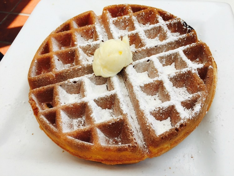Waffles are one of the reasons why Crown Bistro is on my list of places to eat on Coronado Island!