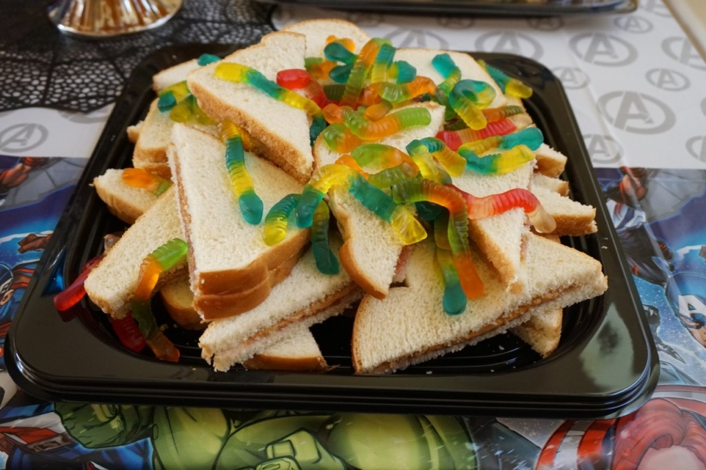I ordered a PB & J tray from Fry's for my son's last birthday party since it's a favorite of his. But you'll also have to consider if other guests have peanut allergies.